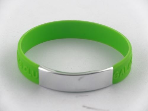 white rubber wristband