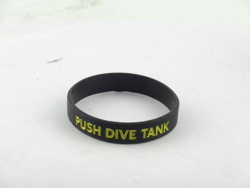 How to make debossed silicone wristbands?