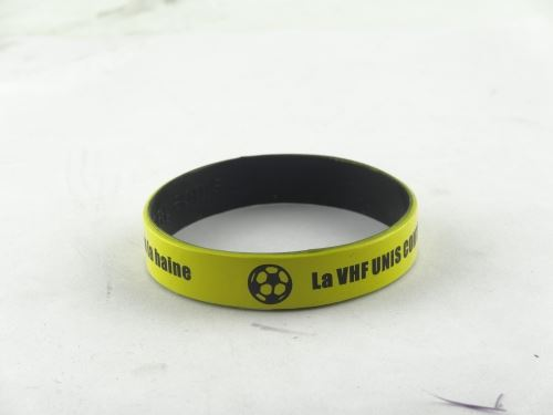 What is the custom process of silicone wristbands
