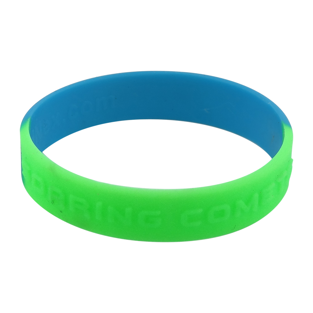 What's the customized silicone wristband?