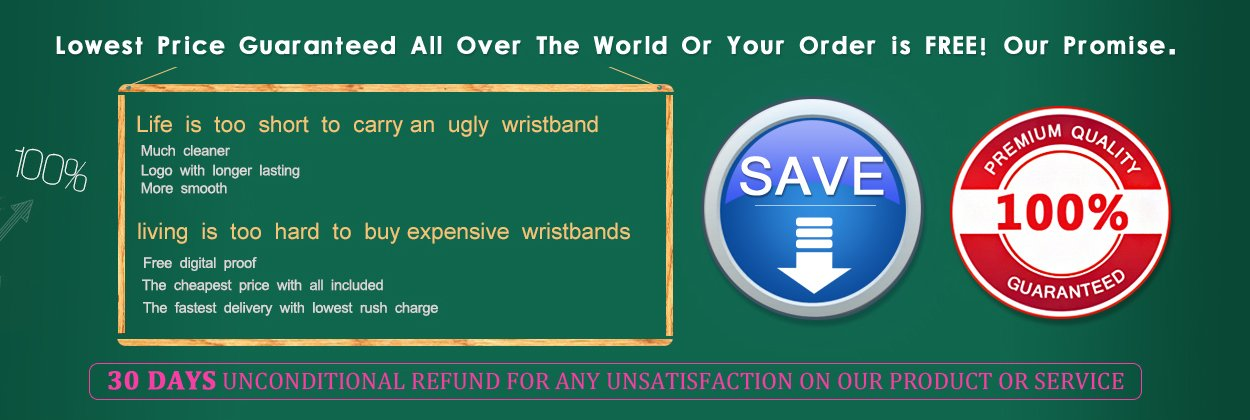 Promotion Wristbands Price