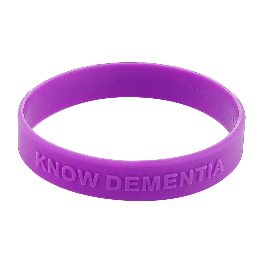 purple embossed wristband