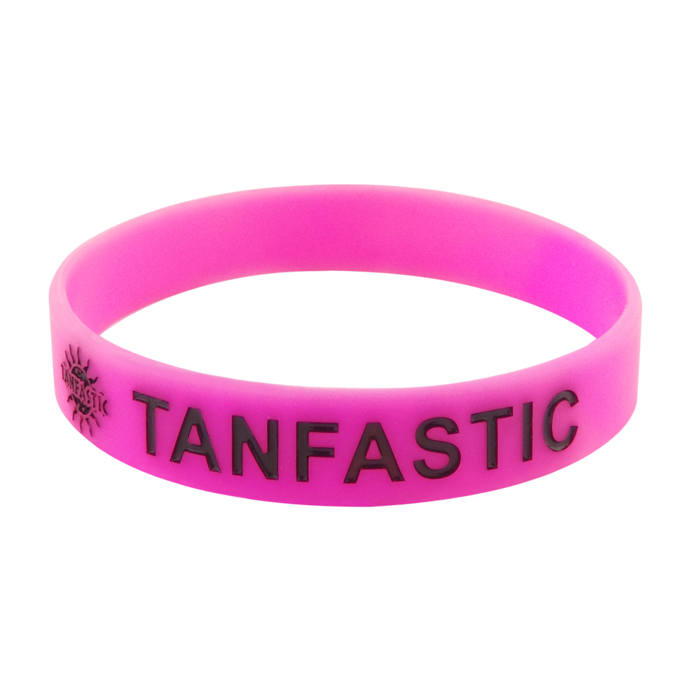 debossed colorfilled wristband