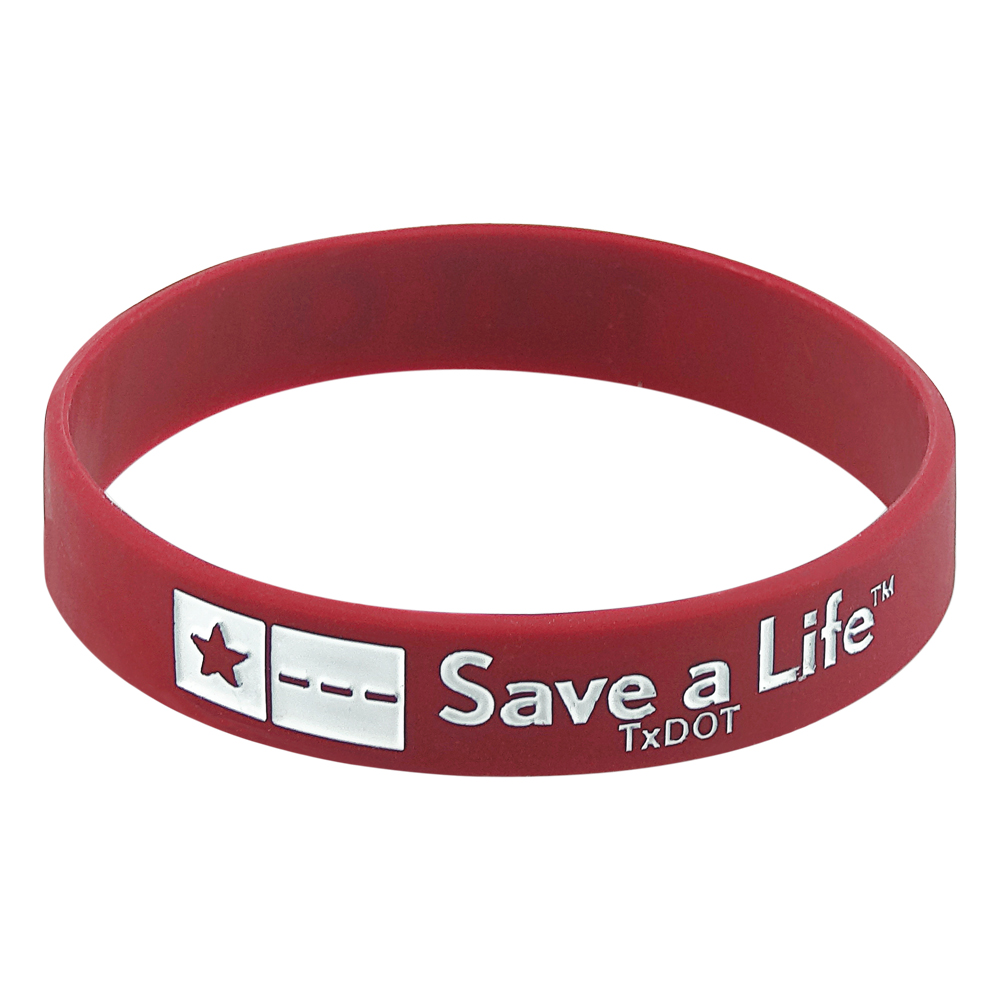 silicone wristband with custom design