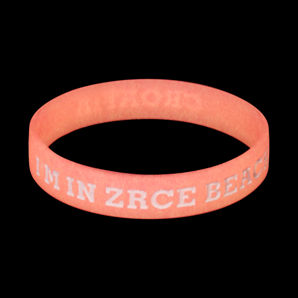 silicone wristband glowing